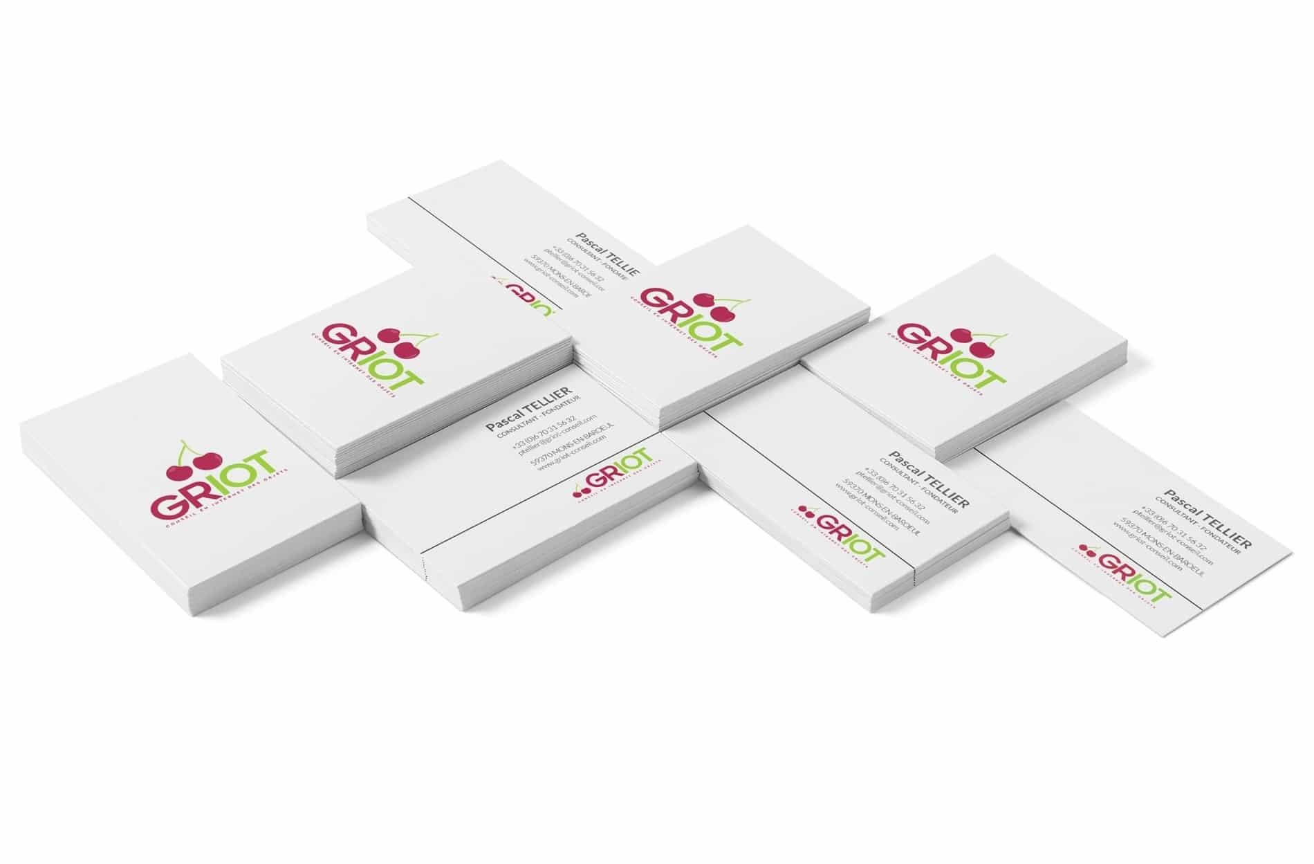 Création cartes de visites Lille - GRIOT