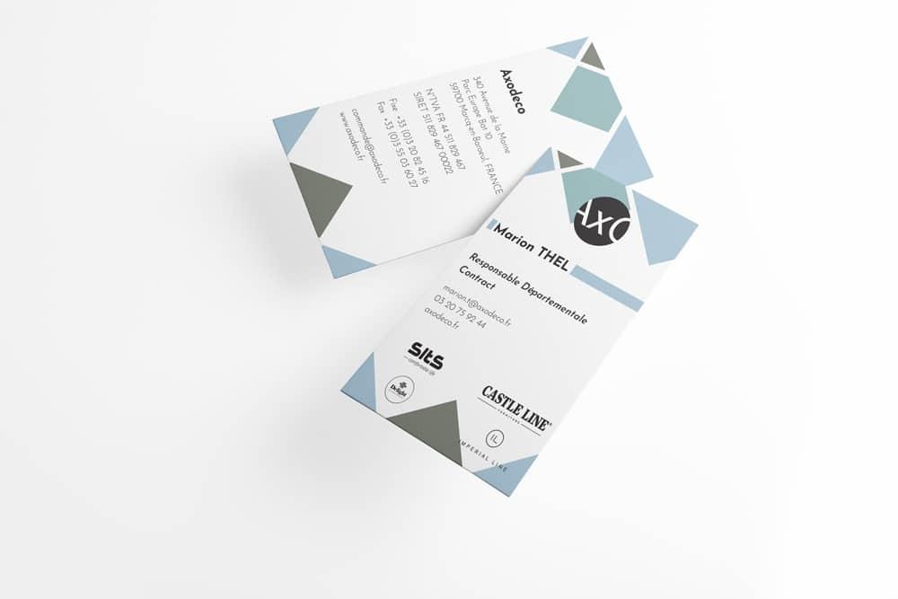 Création cartes de visites Lille - AXODECO