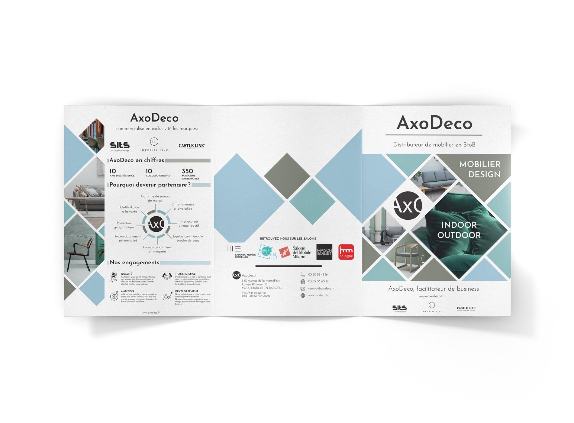 Création plaquette commerciale Lille AXODECO