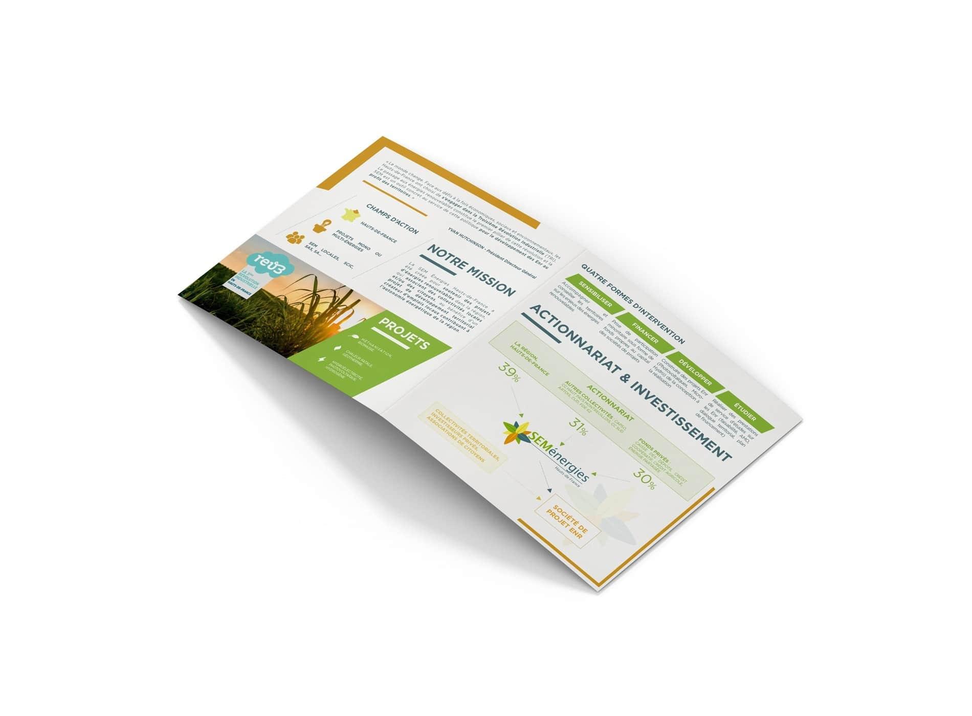 Création plaquette commerciale SEM ENERGIES