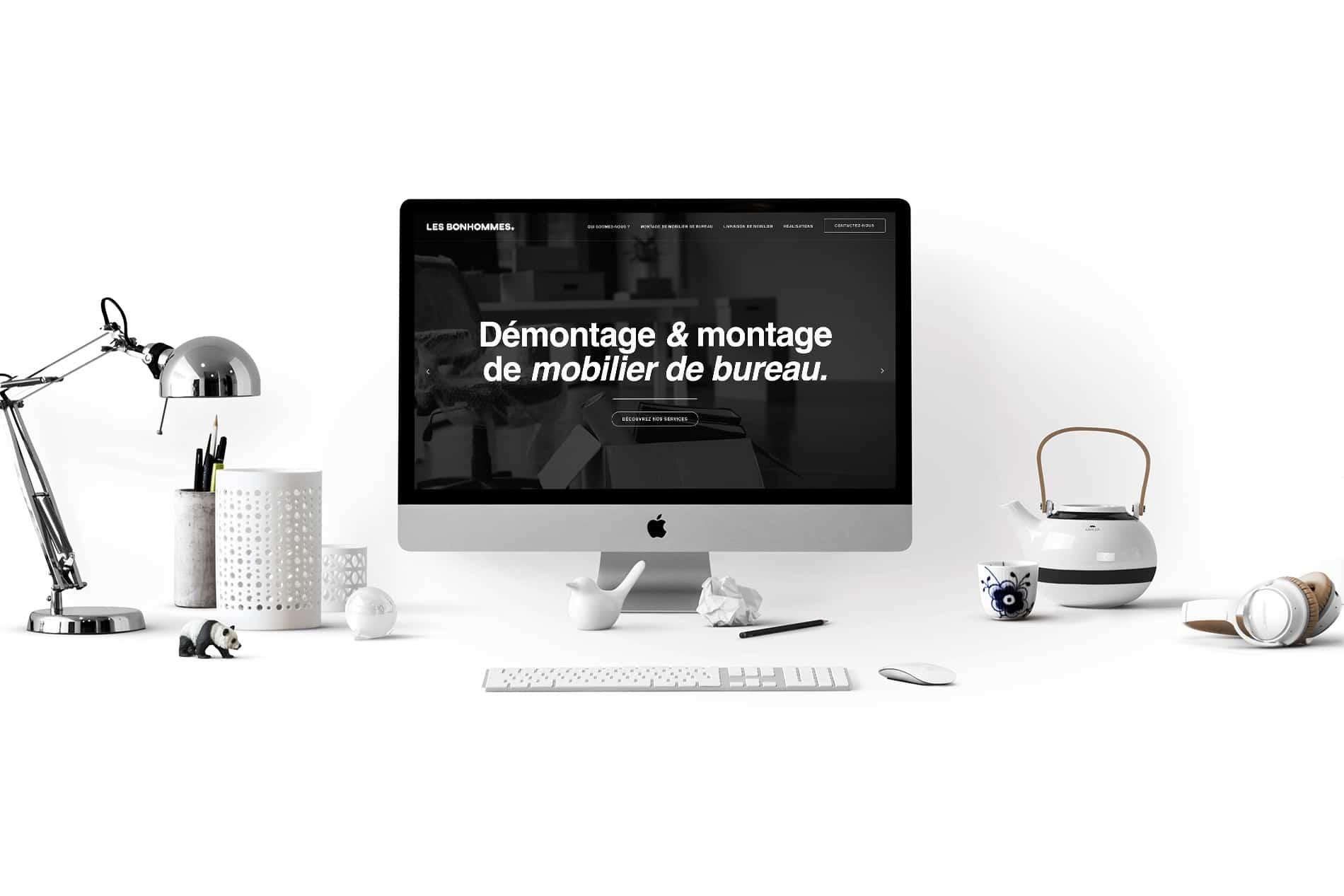 Création site vitrine Lille - Les Bonhommes