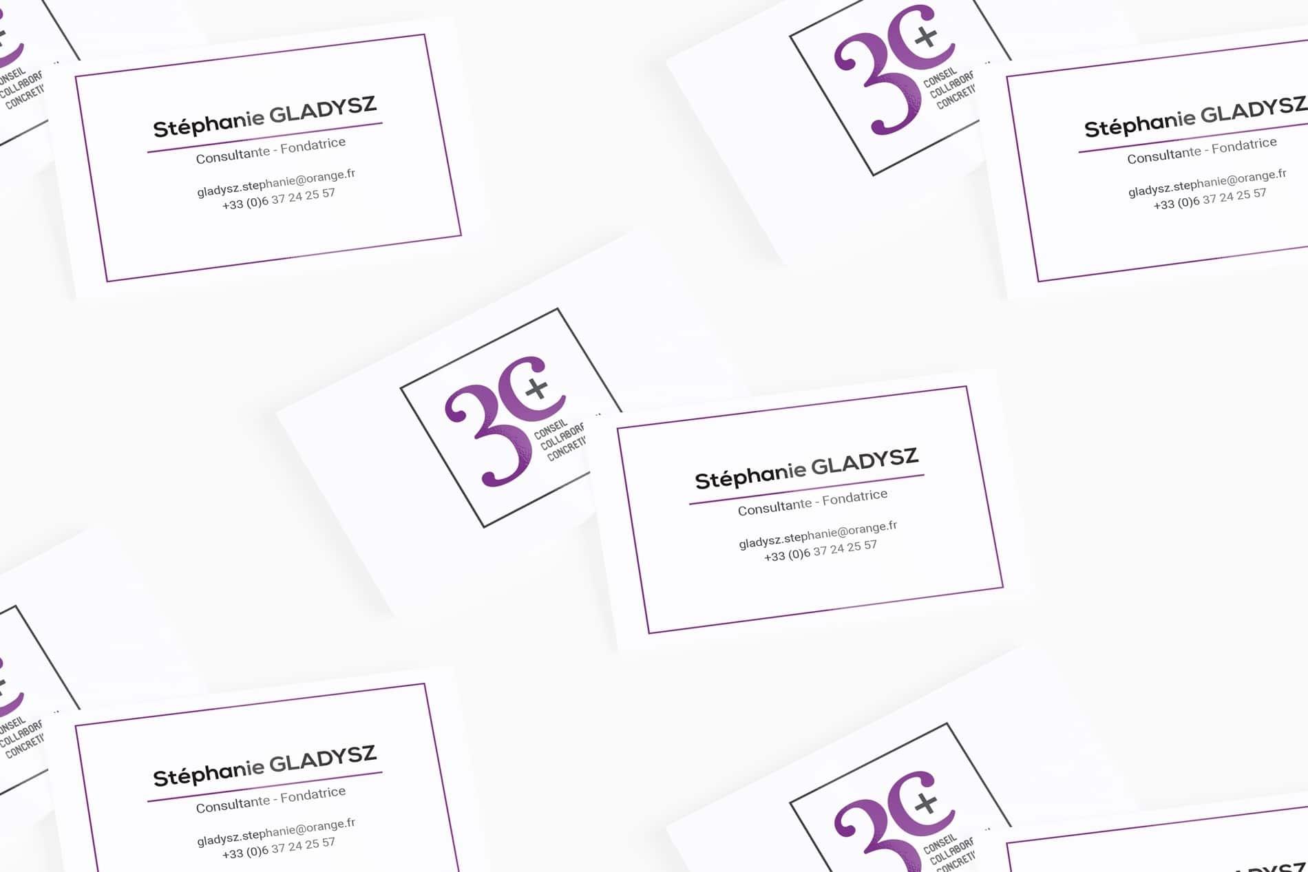 Création cartes de visites Lille - 3C+