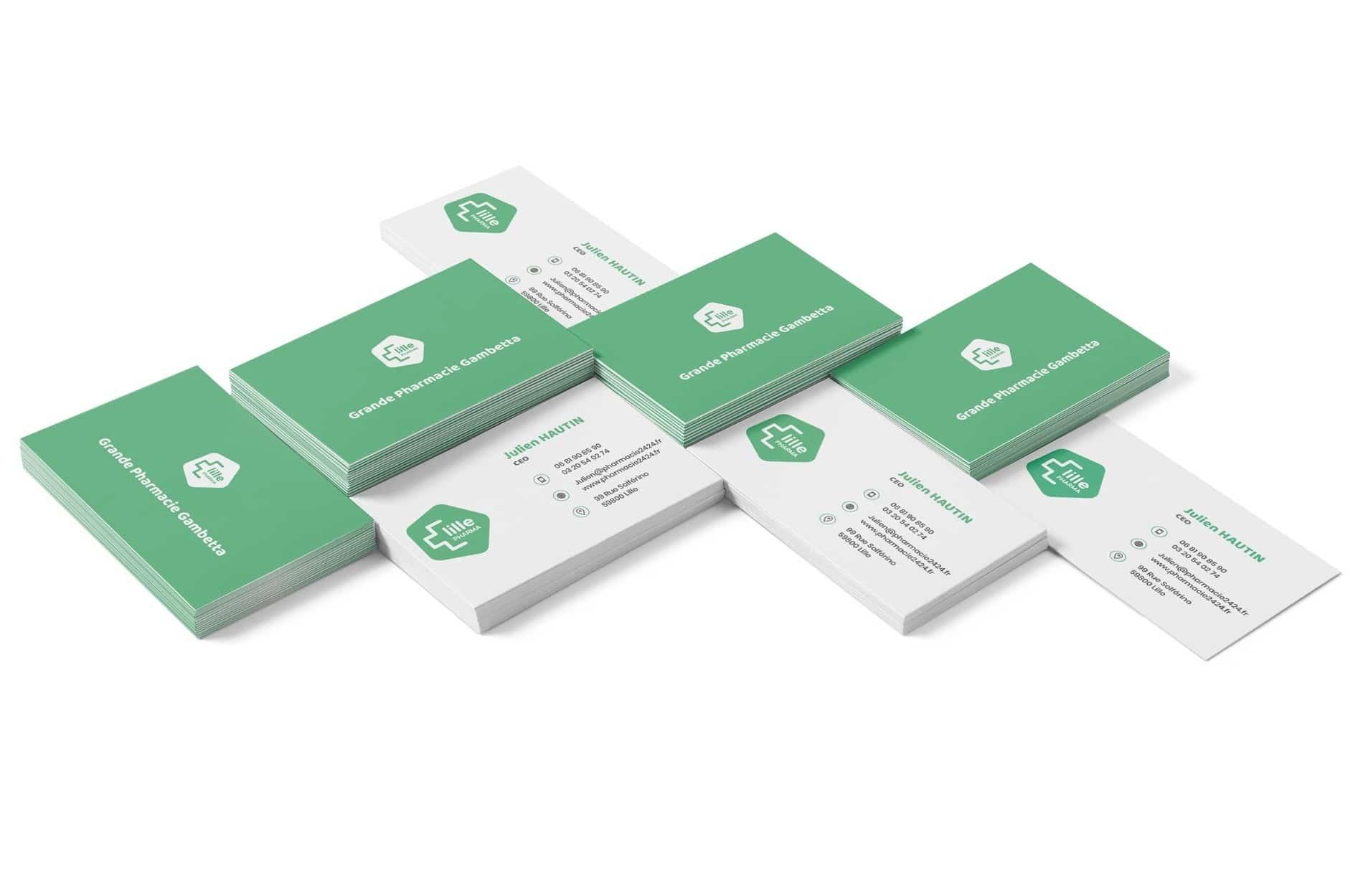 Création cartes de visites Lille - Pharmacie des Halles
