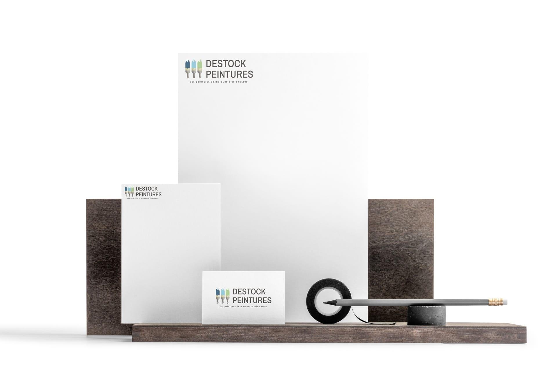 Création logo lille Destock Peintures
