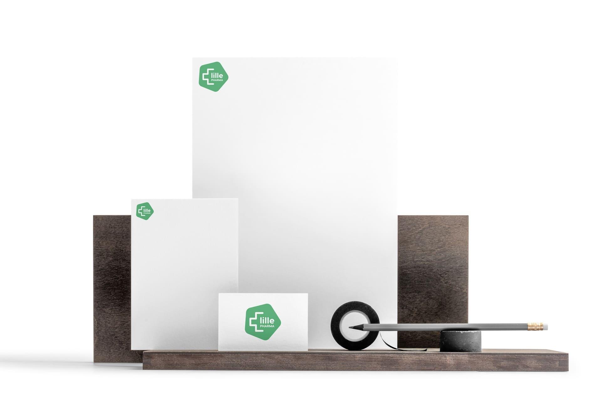 Création logo lille pharmacie des halles