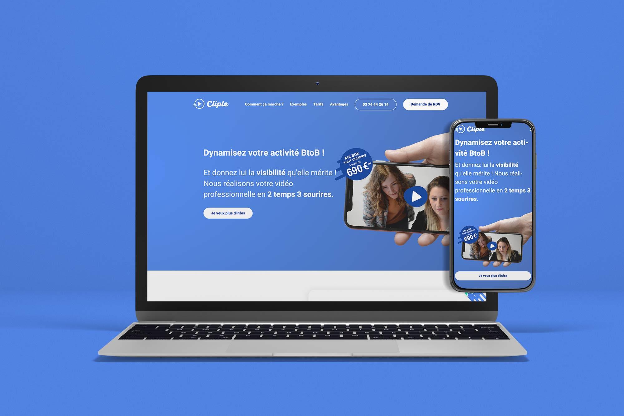 Référence Wapiti Agency Cliple Landing Page
