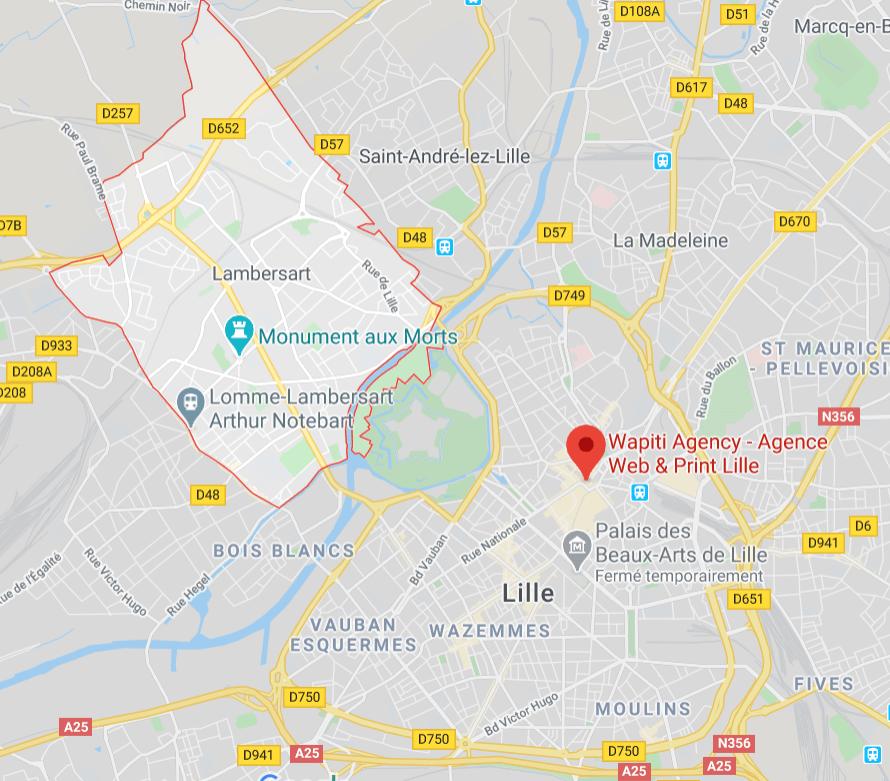 Maps Agence web Lambersart