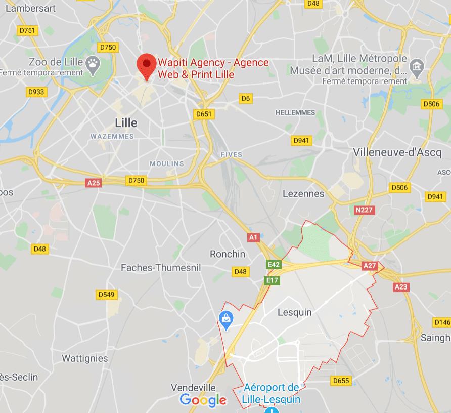 Maps Agence web Lesquin