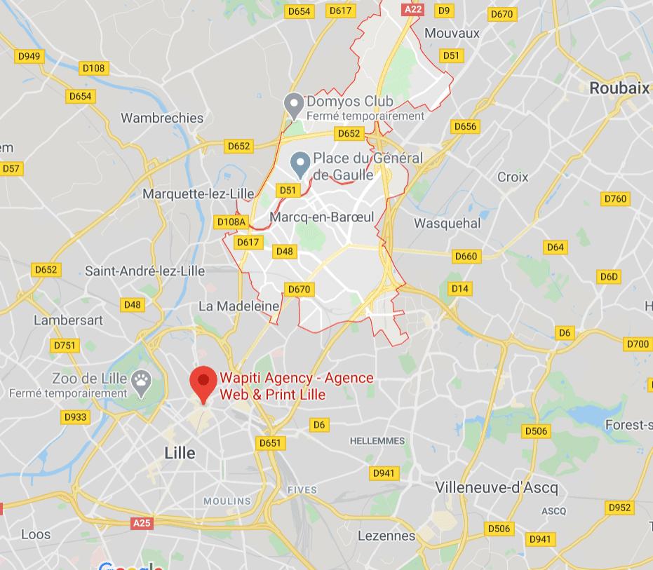 Maps agence web Marcq en Baroeul