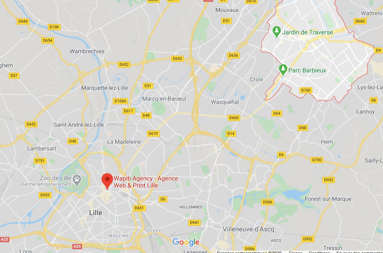 Maps agence web Roubaix