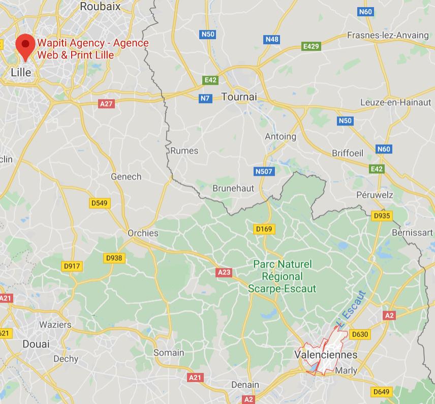 Maps création site e-commerce Valenciennes