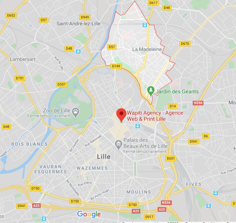 Maps Création site e-commerce La Madeleine