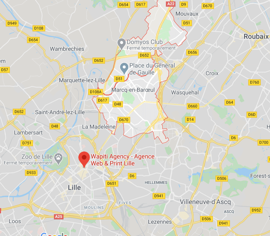 Maps Création site e-commerce Marcq en Baroeul