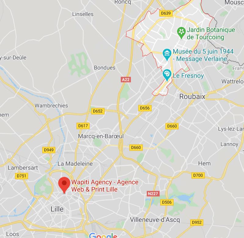 Maps Création site e-commerce Tourcoing