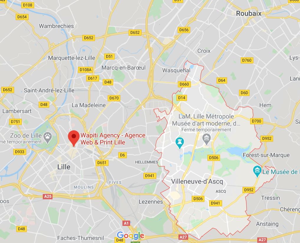 Maps Création site e-commerce Villeneuve d'Ascq