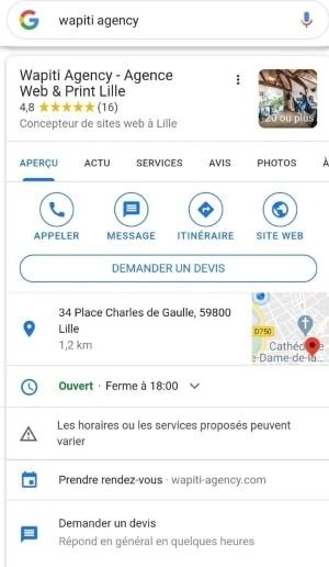 Screen Wapiti Agency - Google My Business