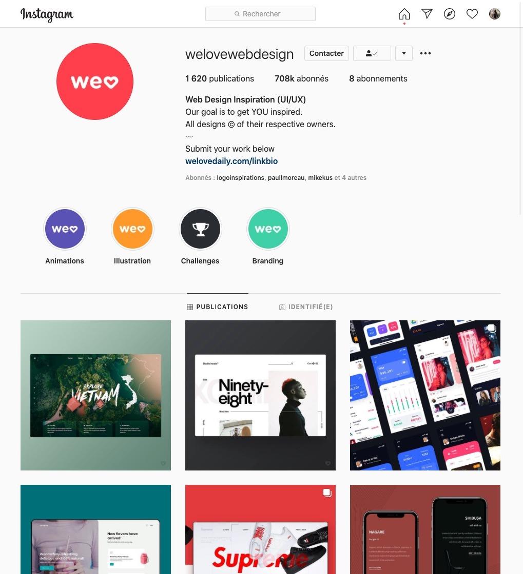 We love web design compte instagram