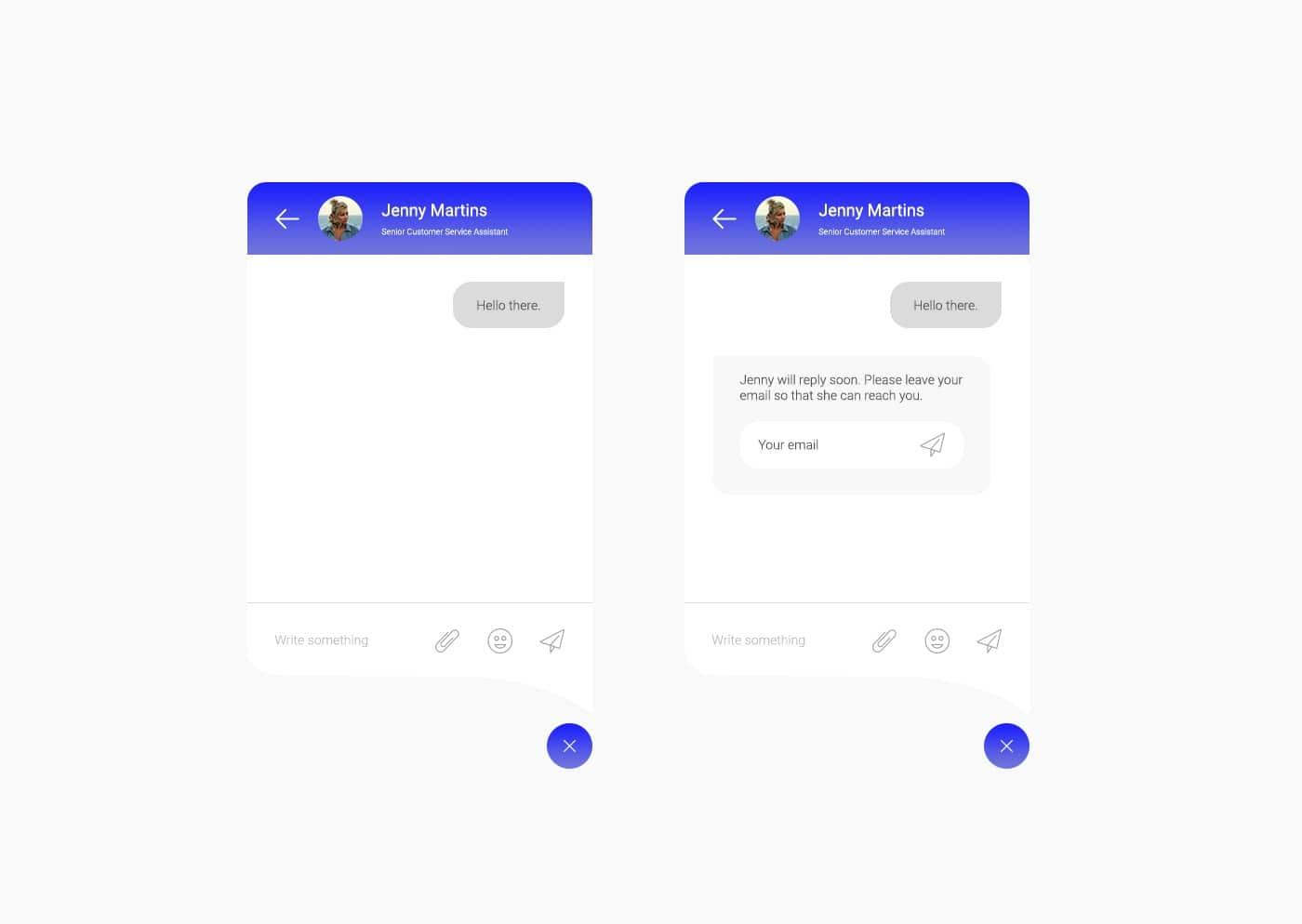 Idee chatbot webdesign