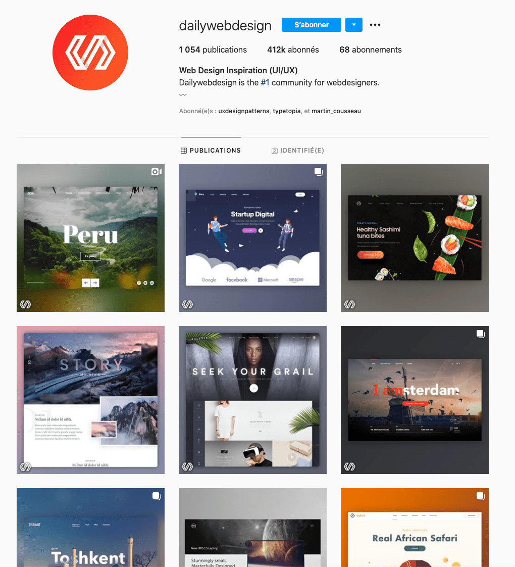 dailywebdesign inspiration ui ux design