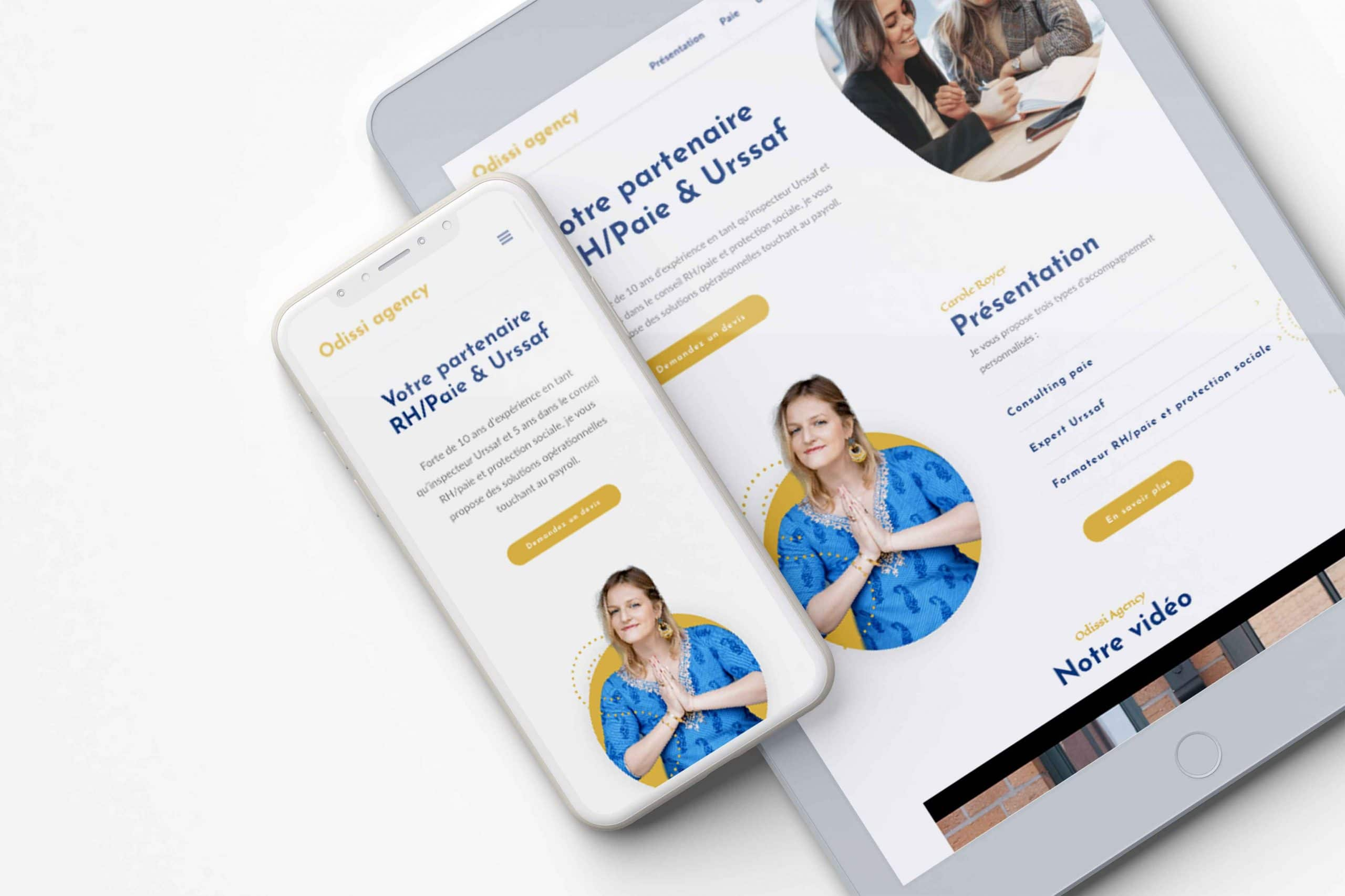 Site responsive Odissi Agency