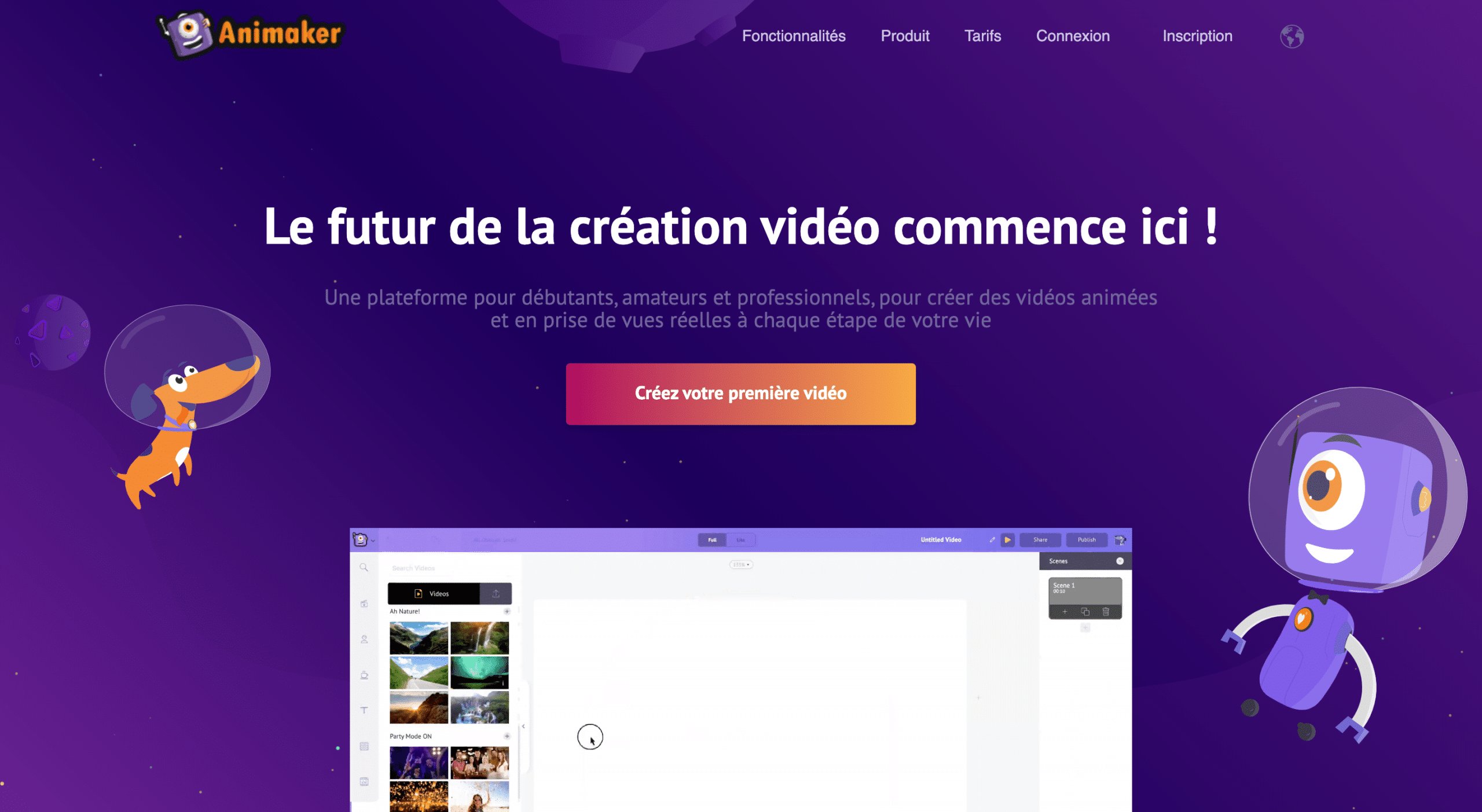 Outil creation video animaker