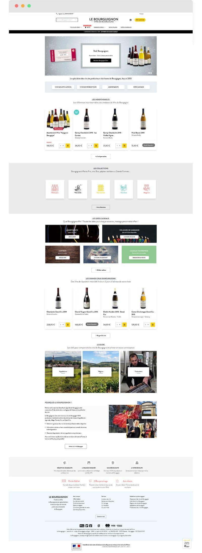 Home page Le bourguignon