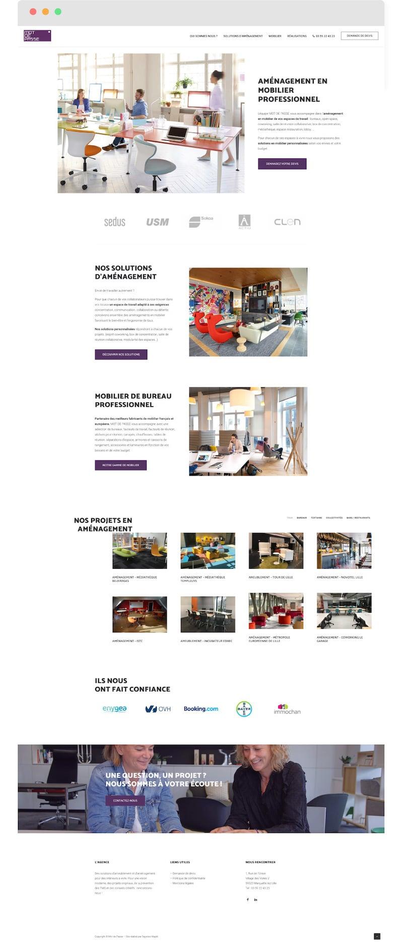 Home page Mot de passe