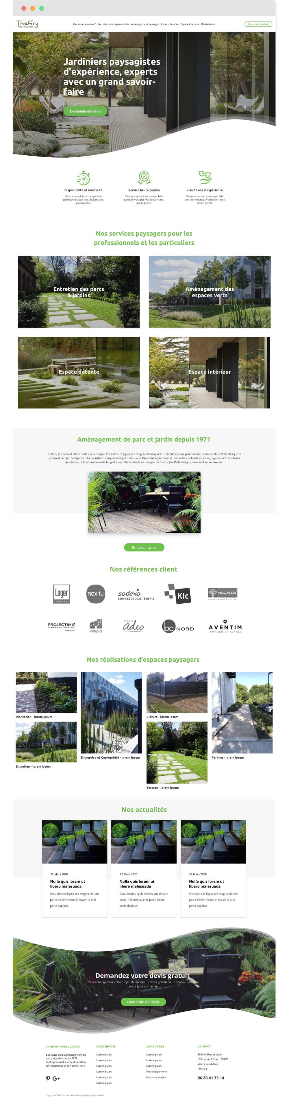 thieffry parc et jardins home page
